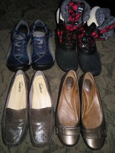 Lot of sz 7.5-8 womens shoes! Must all go together!
