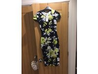 Ladies Boohoo Floral Midi Dress Size 8