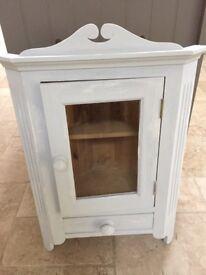 Wooden pine corner cabinet