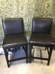 Counter Height Pair of Chairs