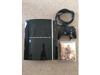 PS3 WITH CHARGER CONTROLLER AND ONE GAME