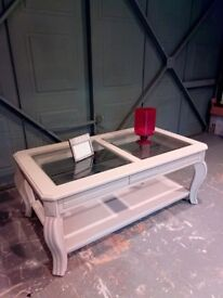 Pretty painted beige coffee table