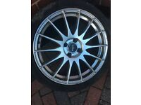 Fox racing Alloys 17 Inch with tyres vauxhall Renault Toyota Clio Corsa Astra Yaris Megane