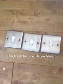 Chrome face plates