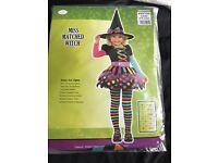 Rainbow witch costume 6-8 yrs Halloween