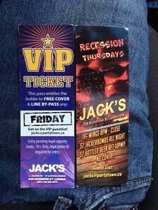Vip jacks tickets