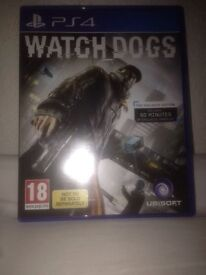 PS4 Watch Dogs Brand New Used Once