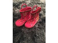 Girls wellies wellyboots toddler size 5 1/2