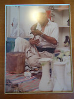 Framed Photo of Middle Eastern Artisan