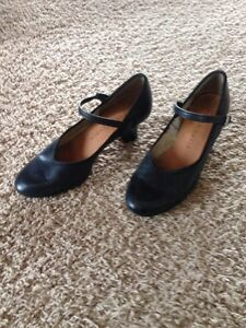 Black dance shoes