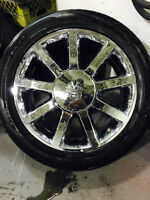 "22"" Vogue Duece Chrome Wheels, Tires and Sensors! - REDUCED!"