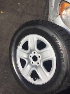 Toyota Venza Highlander - 245-65-17 Winter tires and silver