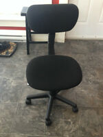 Black Desk Chair with Wheels