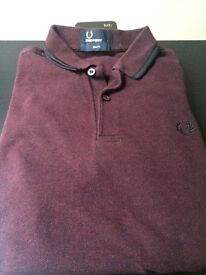 Genuine Fred perry polo slim fit M3600 Size - small burgundy