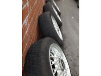 "Genuine bbs 14"" alloy wheels"