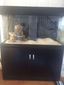 Cheap Black Aqua one 400 marine tropical fish tank aquarium with setup (delivery/installation