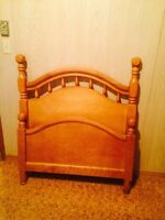 Single bed with frame and mattress