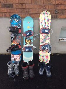 Snowboards/boots/bindings