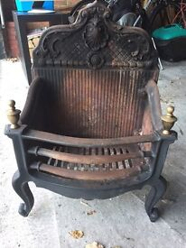 Queen Anne style solid fuel Fire Basket / grate
