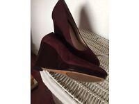Ladies clarks shoes burgundy