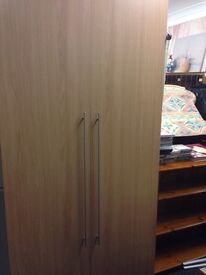 Double beech wardrobe free delivery