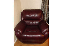 2 leather armchairs