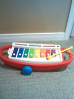 1989 Fisher Price Xylophone Pull Toy