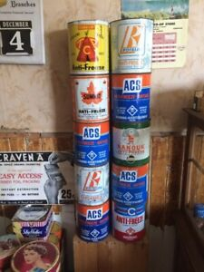 Antifreeze tins