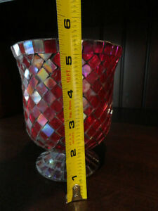 Red Mosaic Glass vase or decorative Container -Perfect Condition Kitchener / Waterloo Kitchener Area image 4
