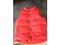 Red padded gilet/body warmer from next