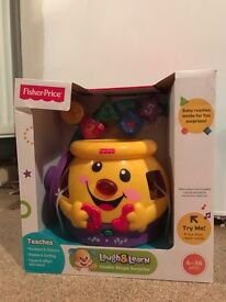Fisher price laugh and learn cookie jar