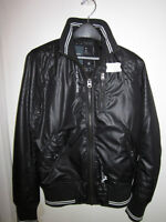 BRAND NEW MENS G-STAR RAW BLACK BOMBER MOTO JACKET SIZE M