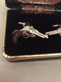 1960/70s vintage Gun cuff links