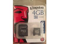 New Kingston micro sd card