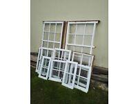Solid mahogany windows glass