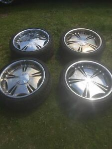 Mags 22 pouces chrome / 22 inch rims chrome