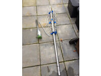 caravan/camping clothes line, with heavy duty ground peg