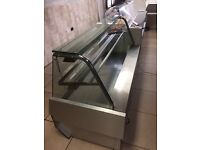 Hot food display unit commercial