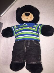 Build-A-Bear Workshop Black Teddybear with Clothes London Ontario image 1