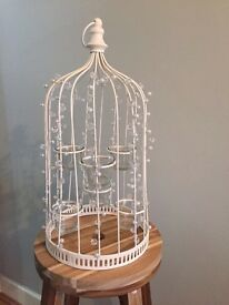 Jewelled birdcage with 6 tealight holders - Centre Pieces - Wedding table decorations