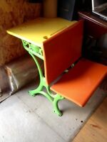 Antique children's school desk  Price Reduced
