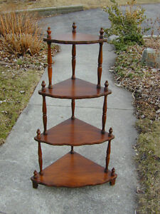 ANCIENNES NOYER COIN ETAGERE