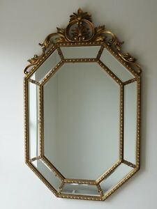 STUNNING VENETIAN Gold Mirror Antique Style OCTAGON Wall Mounted (3577)