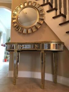 Console mirrored table & Accent mirror