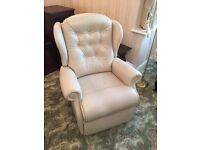 Cream Leather 3 Piece Suite