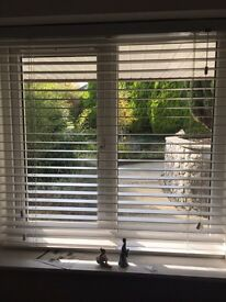 Venetian Blinds Set Of Three Ivory Wood Bay Window Brand New 110cms Long
