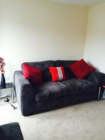 3 Seater DFS Sofa plus matching Puffy