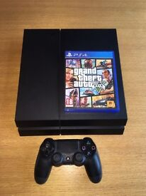 PS4 boxed with GTA V, FIFA 16 & Controller
