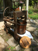 Restored Antique Traditional Apple Press and Crusher.