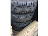 Continental Eco Contact Tyres x4 (Nearly New)